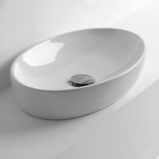 Bargain H10 Oval Vessel Bathroom Sink By WS Bath Collections