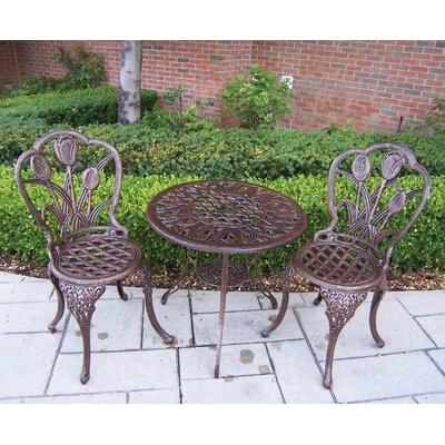 Farrior 3 Piece Bistro Set by Brayden Studio Best