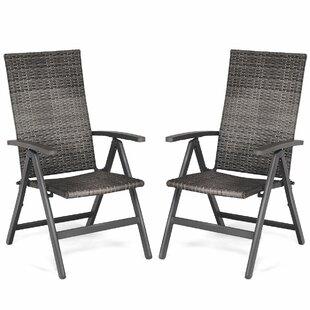 Sunburst Folding Patio Dining Chair (Set of 2)