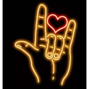 Rock on Heart Neon Wall Light By Latitude Run
