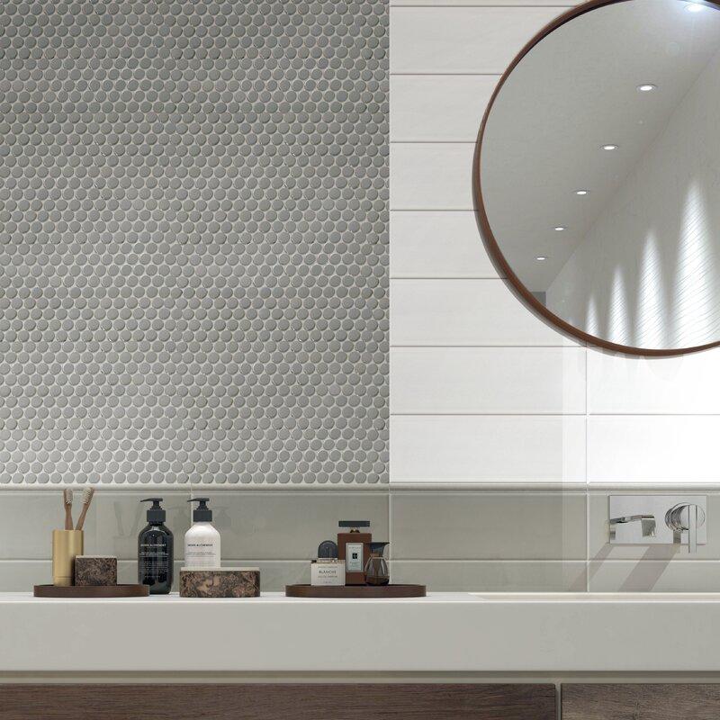Walkon Tile Hudson 4 X 12 Ceramic Subway Tile In Matte White Wayfair