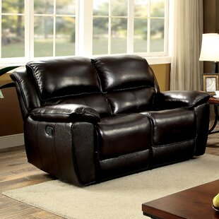 Red Barrel Studio Erie Leather Reclining Loveseat