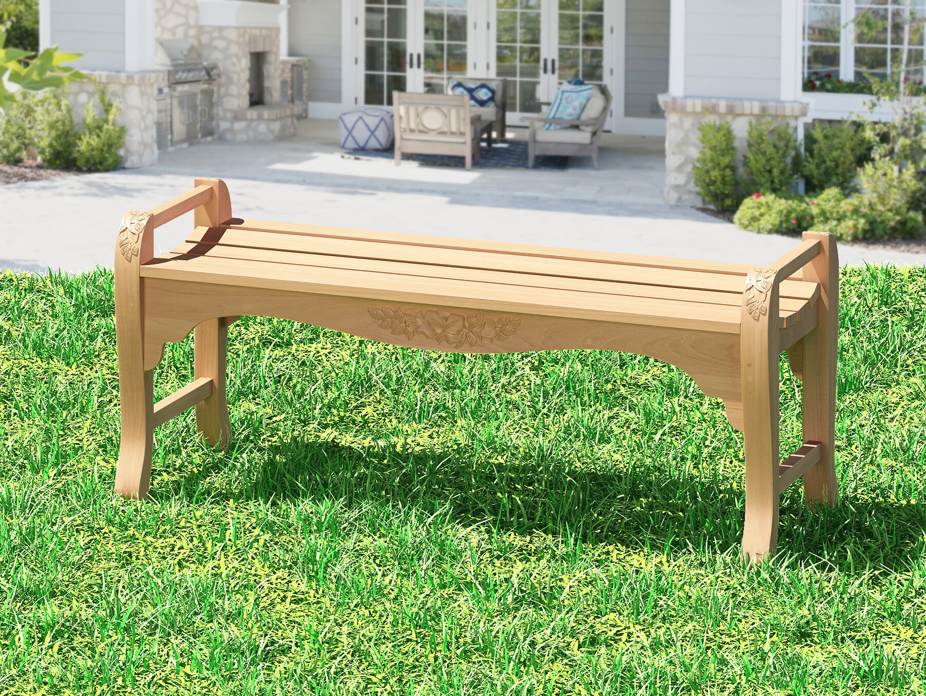 Awe Inspiring Highland Dunes Guillory Teak Garden Bench Reviews Wayfair Spiritservingveterans Wood Chair Design Ideas Spiritservingveteransorg