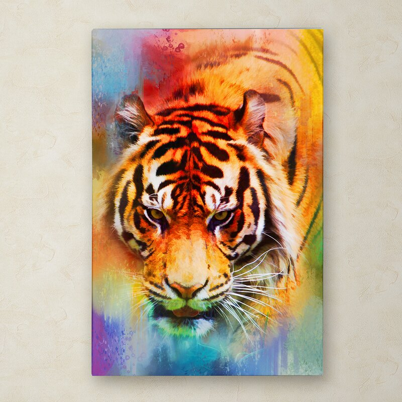 Trademark Art Colorful Expressions Tiger Graphic Art Print On Wrapped Canvas Wayfair