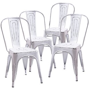 Williston Forge Curry Distressed Dining Chair (Set of 4)
