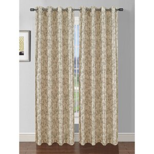 Pinehurst Nature/Floral Room Darkening Thermal Grommet Single Curtain Panel