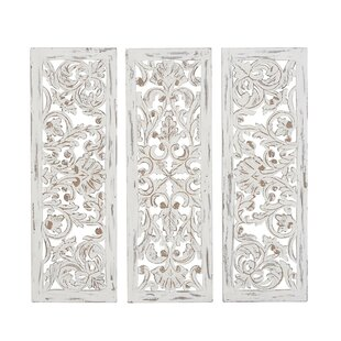 3 Piece Rustic Carved Ornate Wall Décor Set