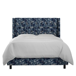 Kenna Nail Button Tufted Linen Upholstered Panel Bed By Mistana