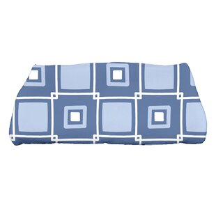 Square Geometric Print Bath Towel