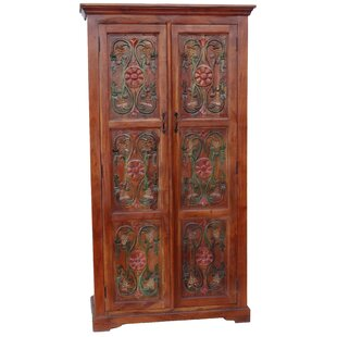 Jalbert Craved Wardrobe Armoire by World Menagerie