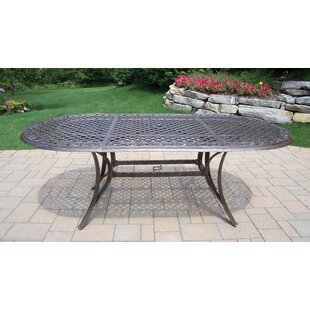 Mississippi Oval Aluminum Dining Table by Oakland Living 2019 Online