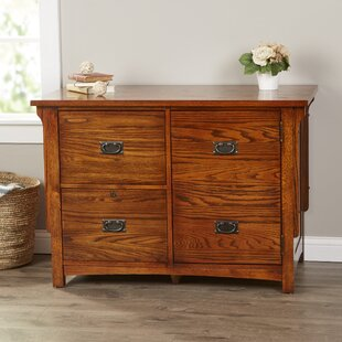 Loon Peak Limon 2 Drawer Lateral File with Door