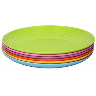 Solids 6 Piece Melamine Dinner Plate Set (Set of 6)