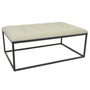 Soft Tufted Ottoman by Three Hands