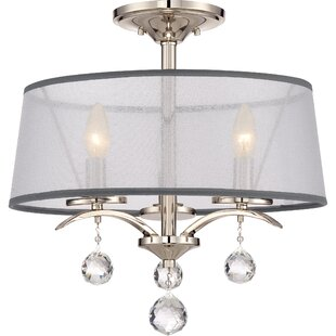 House of Hampton Bellecourt 3-Light Semi Flush Mount