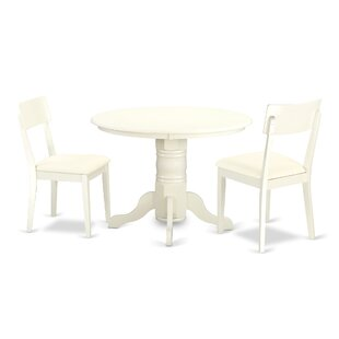 Sherlock 3 Piece Breakfast Nook Solid Wood Dining Set