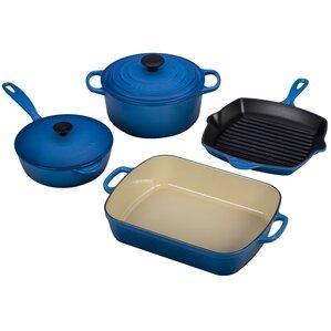 Le Creuset  Cast Iron Signature 6 Piece Cookware Set
