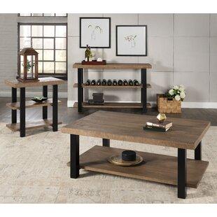 Gracie Oaks Worden 3 Piece Coffee Table Set