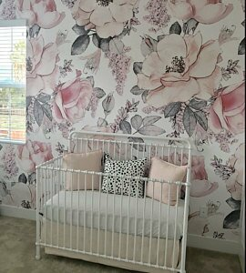 Mcclellan Removable Nursery Watercolor Vintage Floral Art 6 25 L X 75 W Peel And Stick Wallpaper Roll