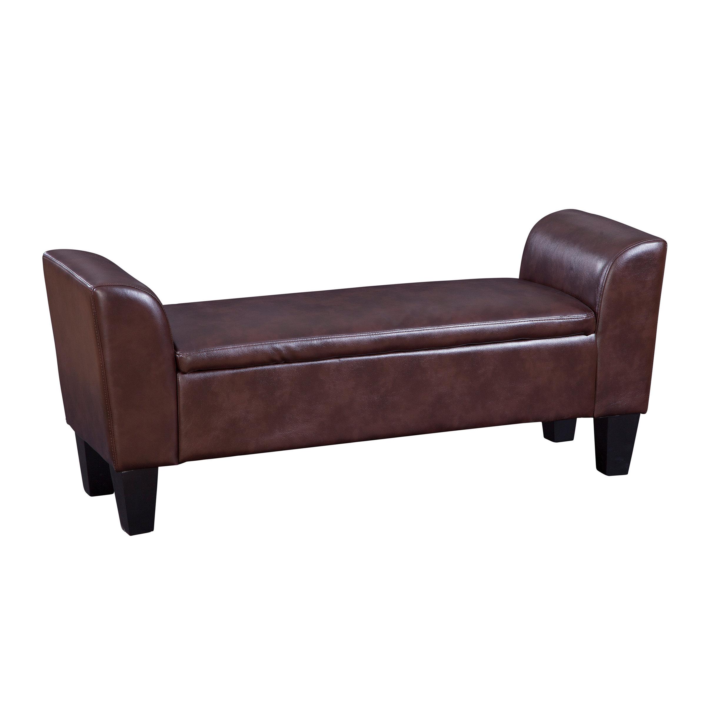 Graftonhome Faux Leather Flip Top Storage Bench Reviews Wayfair Ca