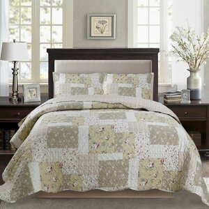 Humble Printed Pre-Washed Reversible Quilt Set