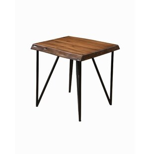 Bryce Solid Acacia Wood End Table by Foundry Select