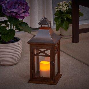 Price comparison Portland Wood Lantern By Smart Living
