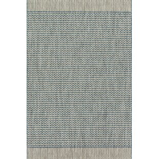 Nicki Gray/Blue Indoor/Outdoor Area Rug