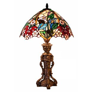 Best Price Flower Design 23 Table Lamp By Warehouse of Tiffany