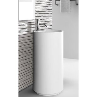Affordable Crestview 18 Pedestal Sink with Overflow ByFine Fixtures