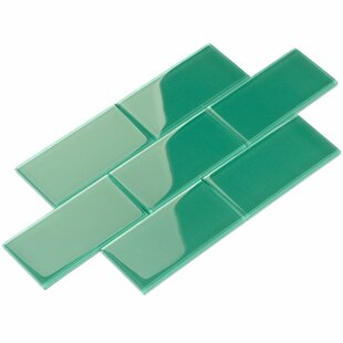 Emerald tile wayfair 3 x 6 glass subway tile in emerald green tyukafo