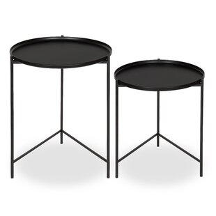 Modern nesting tables allmodern petersburg round metal 2 piece nesting tables watchthetrailerfo