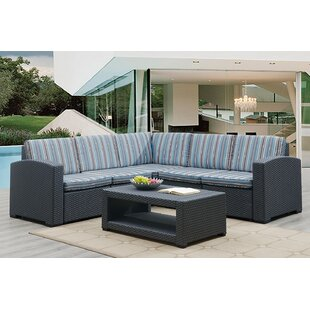 Gales 6 Piece Sectional Seating Group with Cushions by Highland Dunes