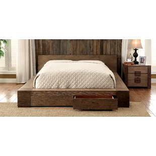 Arianna Solid Wood Storage Platform Bed