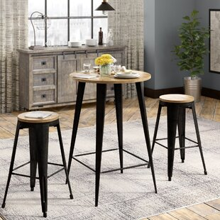 Williston Forge Nickolas 3 Piece Pub Table Set