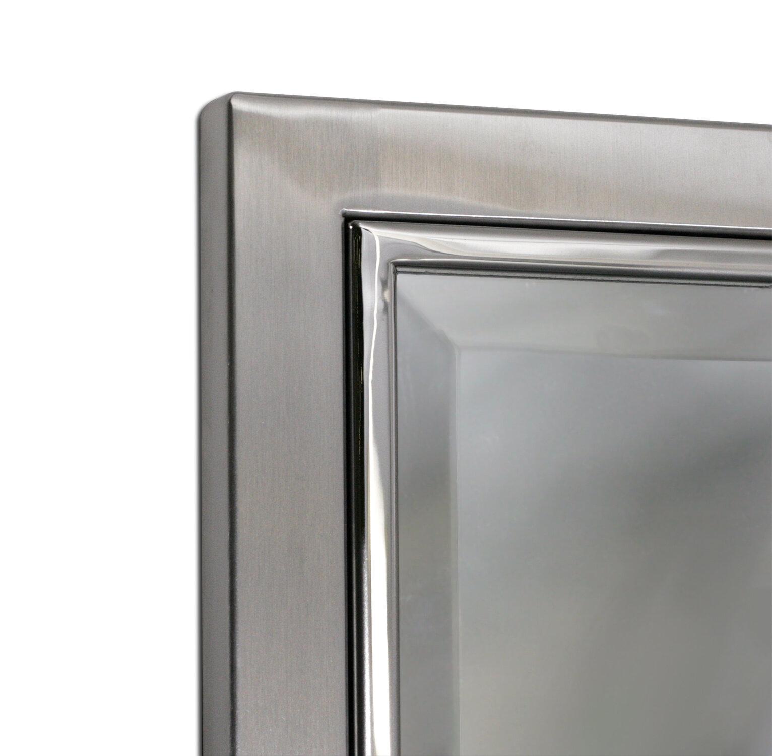 Kennith Classic Metal Framed Bathroom/Vanity Wall Mirror