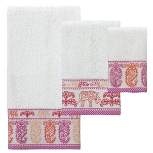 Rodger 3 Piece 100% Cotton Towel Set