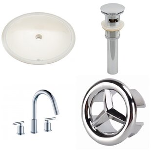Best Reviews Ceramic Oval Undermount Bathroom Sink with Faucet and Overflow ByAmerican Imaginations