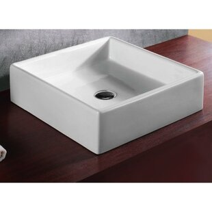 Coupon Ceramica Vitreous China Rectangular Vessel Bathroom Sink By Caracalla