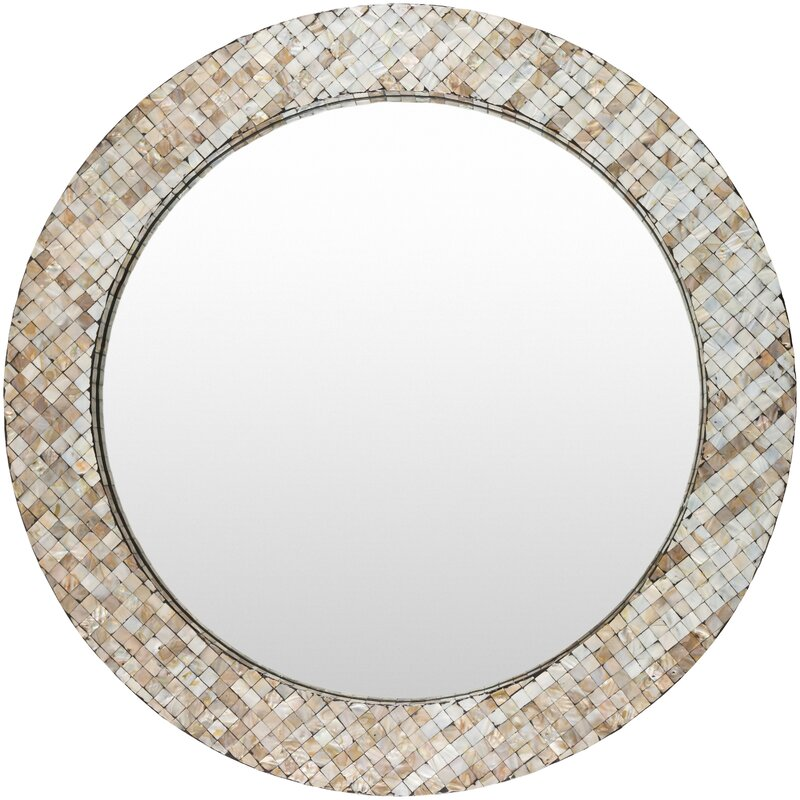 Coastal Wall Mirrors bay isle home round coastal wall mirror & reviews | wayfair