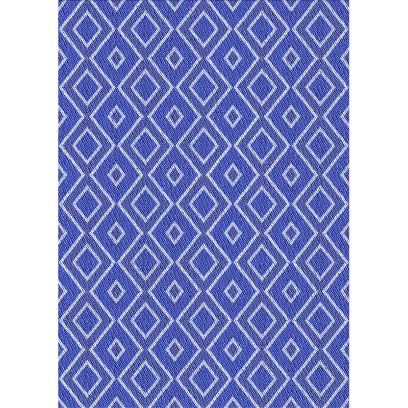 East Urban Home Marino Geometric Wool Blue Area Rug Wayfair