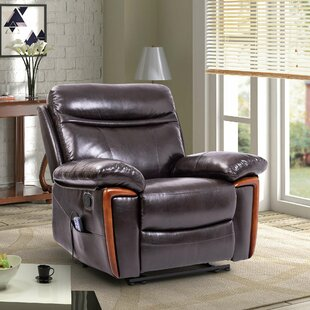 Faux Leather Reclining Massage Chair by Red Barrel Studio