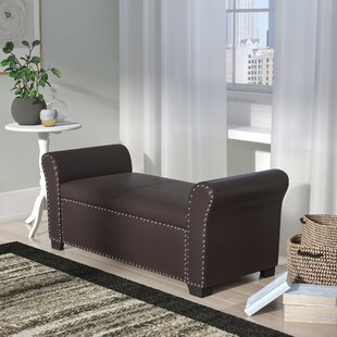 Grogg Faux Leather Storage Bench by DarHome Co