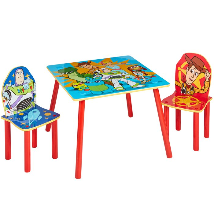 Strange Disney Toy Story Childrens 3 Piece Table And Chair Set Pdpeps Interior Chair Design Pdpepsorg