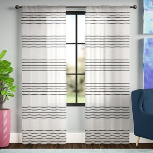 95 Inch And 96 Striped Curtains