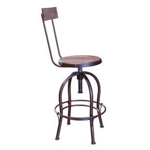 Guynn Adjustable Height Bar Stool (Set of 2) by Williston Forge