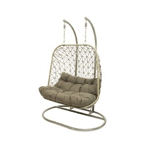 Wargo Double Swing Chair with Stand by Bungalow Rose