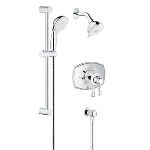 Grohe Authentic Pressure Balanced Dual Function Adjustable Complete Shower System