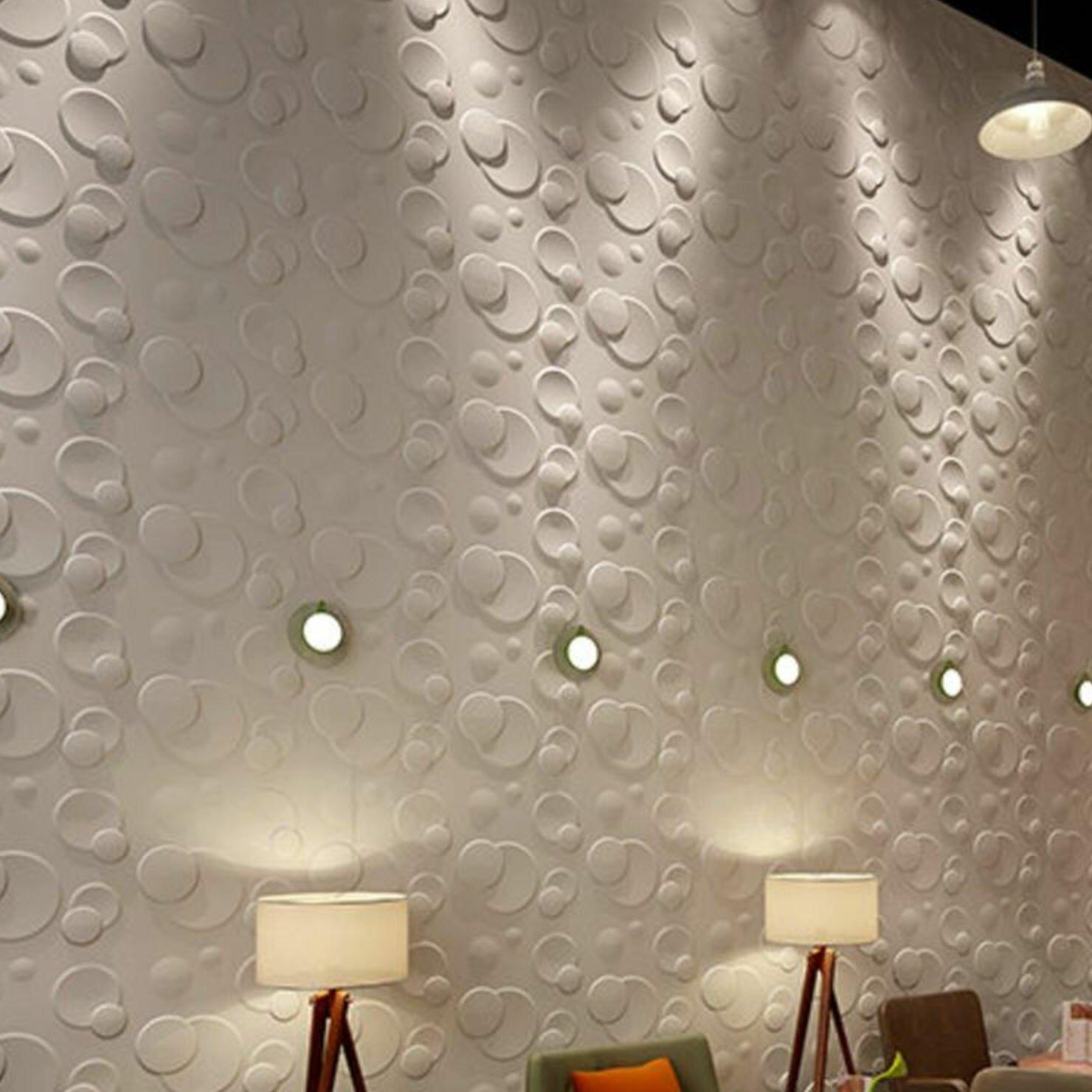 Porpora 20 X 20 Vinyl Wall Paneling In Bright White Wayfair