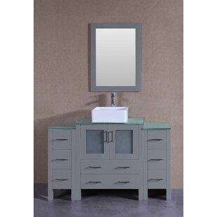 Ewing 54 Single Bathroom Vanity Set with Mirror by Bosconi